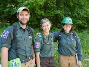 """Brian, Ivy, and Ceci – part of VYCC's first-ever """"assessment crew"""""""