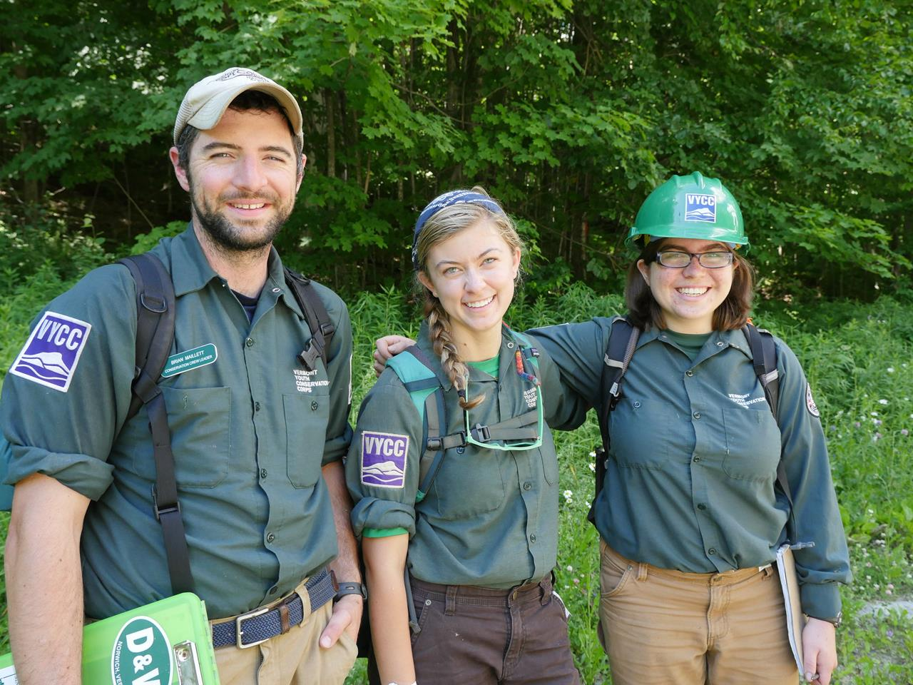 "Brian, Ivy, and Ceci – part of VYCC's first-ever ""assessment crew"""