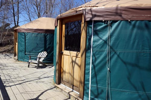 Outside of Yurt