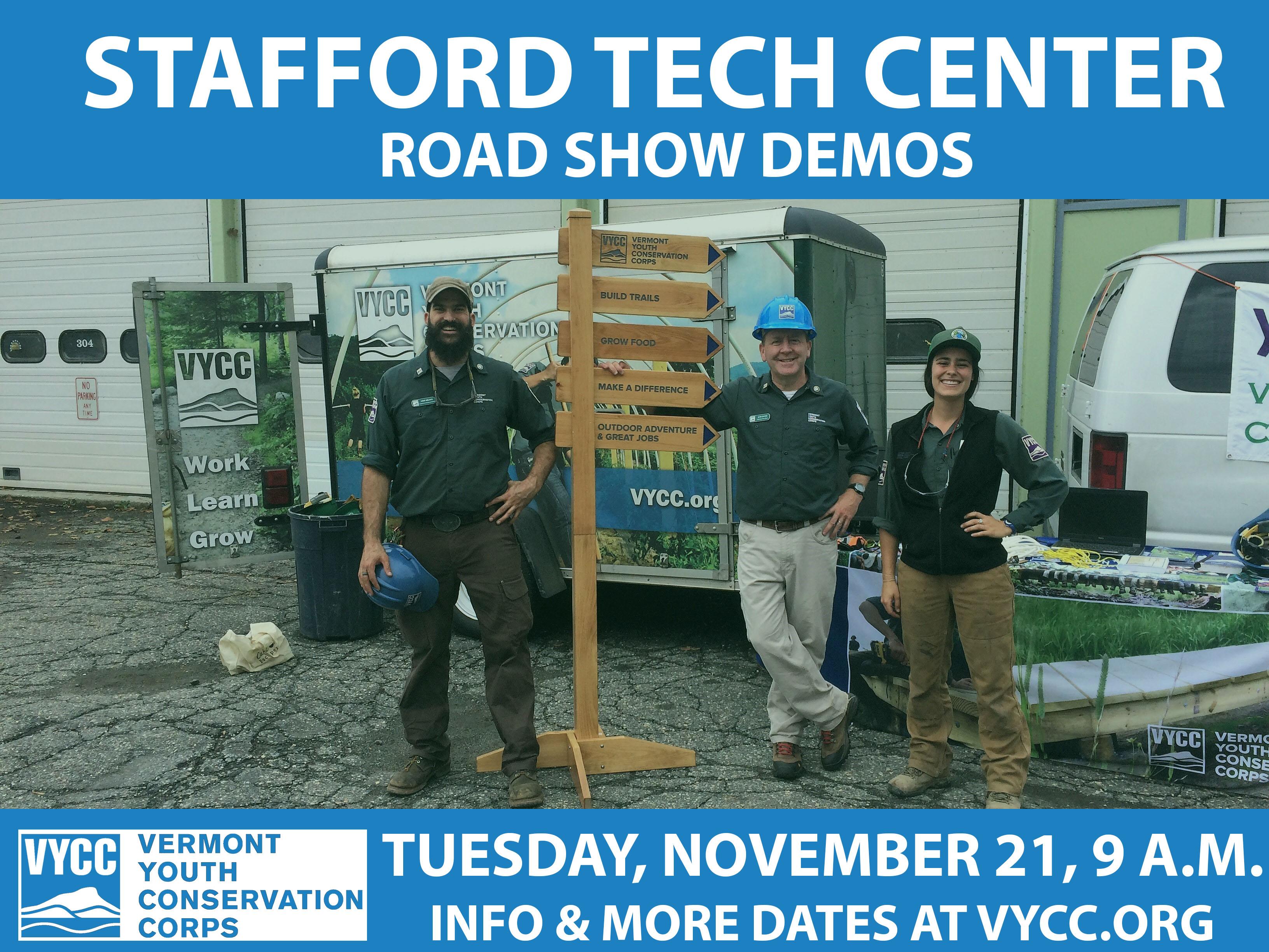 The VYCC Road Show Demos: Stafford Technical Center