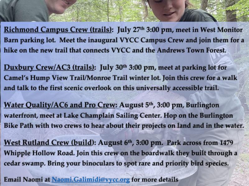 VYCC Crew Meet Ups